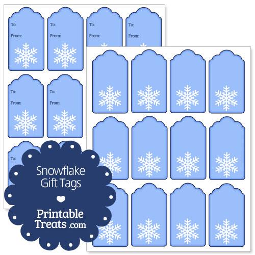 Free Printable Snowflake Gift Tags — Printable Treats.com