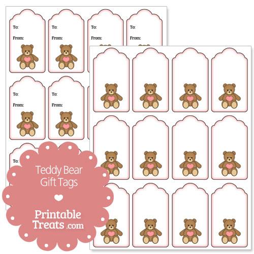 Free printable teddy bear gift tags printable treats free printable teddy bear gift tags negle Gallery