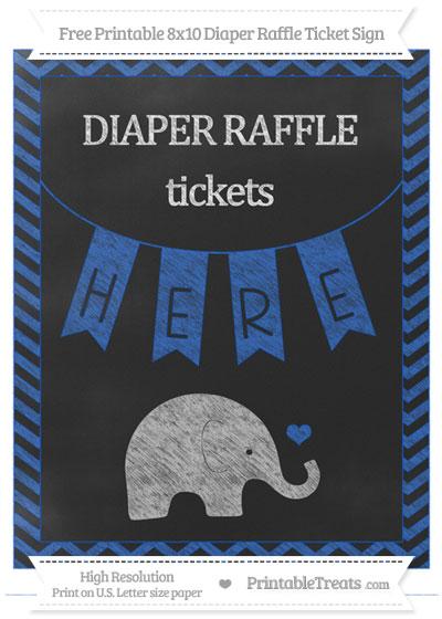 Free Sapphire Blue Chevron Chalk Style Baby Elephant 8×10 ...