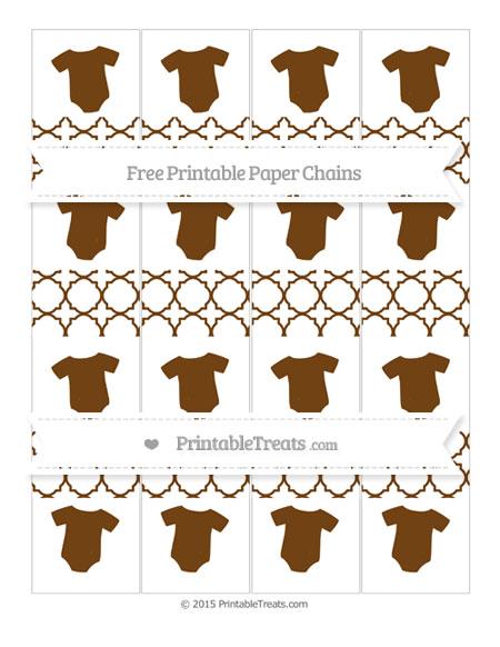 Free Sepia Quatrefoil Pattern Baby Onesie Paper Chains