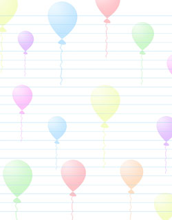 free stationery printable balloons