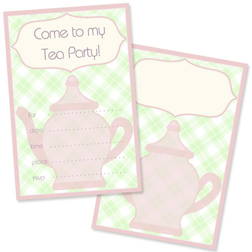 Free Tea Party Invitation Template  Printable TreatsCom