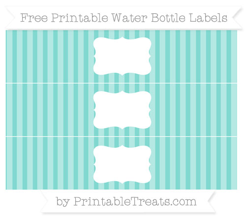 Tiffany Blue Striped DIY Water Bottle Labels — Printable Treats.com