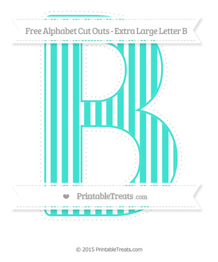 free turquoise thin striped pattern extra large capital