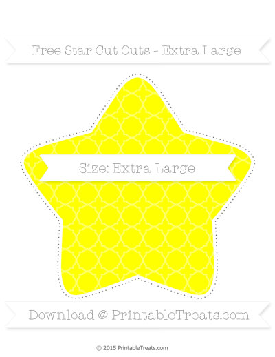 ... Use for the Free Yellow Quatrefoil Pattern Extra Large Star Cut Outs