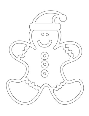 Gingerbread Man Coloring Sheet Printable Treatscom