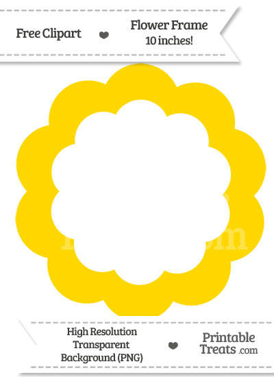 Gold Flower Frame Clipart from PrintableTreats.com