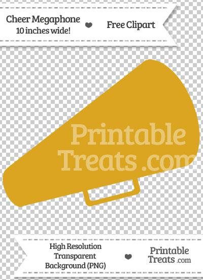 Goldenrod Cheer Megaphone Clipart from PrintableTreats.com