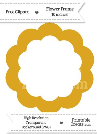 Goldenrod Flower Frame Clipart from PrintableTreats.com