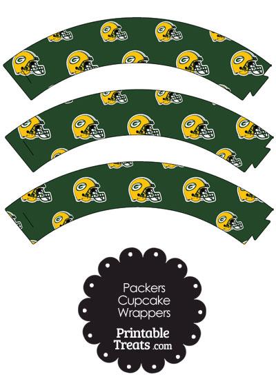 Green Bay Packers Football Helmet Cupcake Wrappers — Printable ...