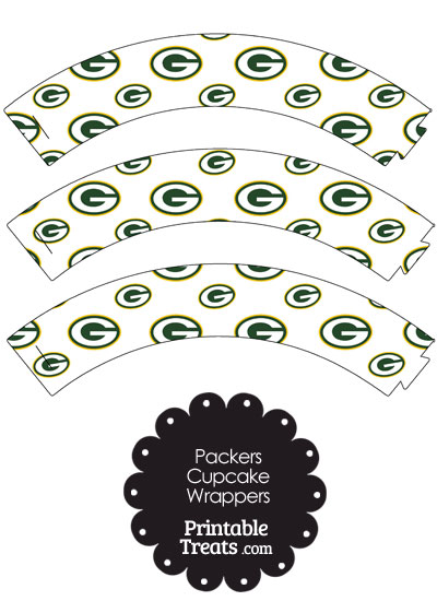 Green Bay Packers Logo Cupcake Wrappers from PrintableTreats.com