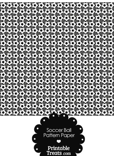 Grey Soccer Ball Pattern Digital Scrapbook Paper From PrintableTreats