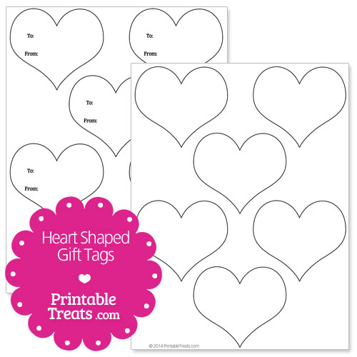 Heart Shapes Templates Heart Shaped Gift Tags