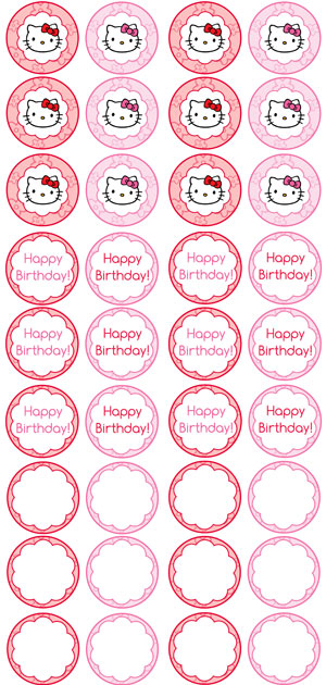 Hello kitty cupcake toppers printable printable for Hello kitty cupcake topper template