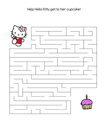 Hello Kitty Maze Game Printable Treats Com