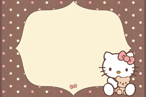 hello kitty printable birthday invitations blank