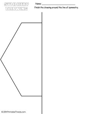 hexagon symmetry drawing worksheet