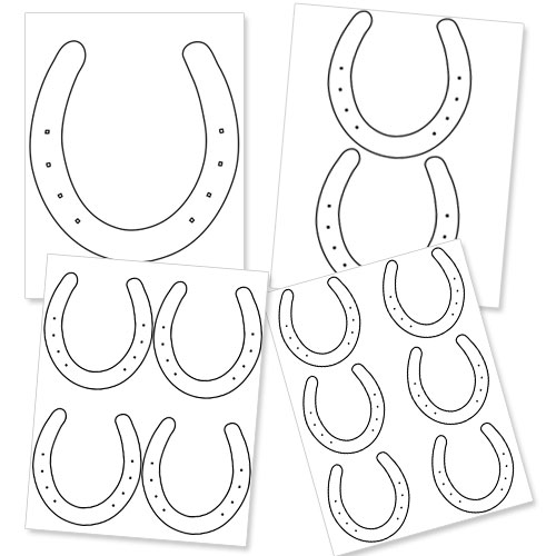 Horseshoe Template for Kids to Decorate — Printable Treats.com