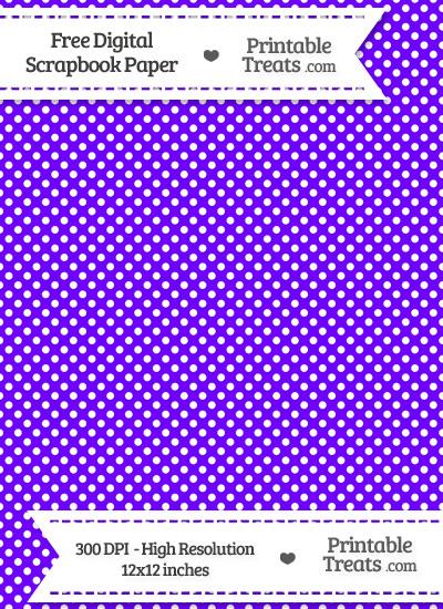 Indigo Raised Mini Polka Dots Digital Paper from PrintableTreats.com