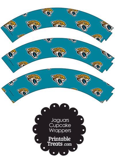 Jacksonville Jaguars Logo Cupcake Wrappers from PrintableTreats.com