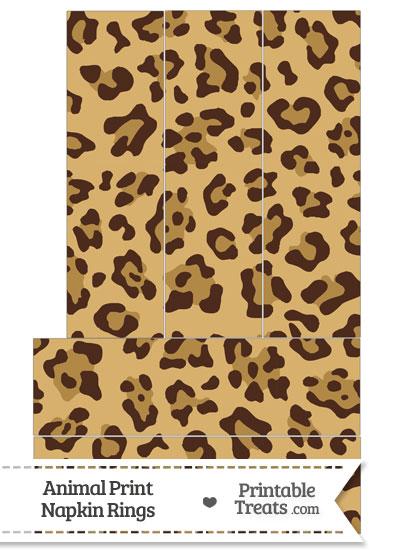 Jaguar Print Napkin Rings from PrintableTreats.com