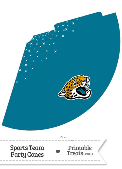 Jaguars Party Cone Printable from PrintableTreats.com