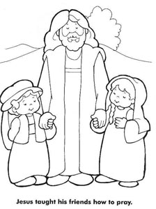 friends of jesus coloring pages - photo#20