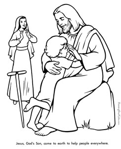 jesus coloring pages - Jesus Children Coloring Pages