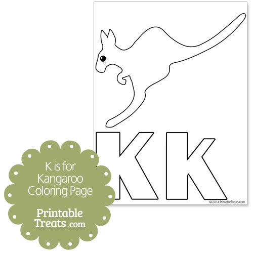 k for kangaroo coloring pages - photo#11