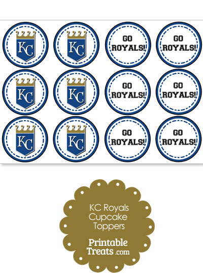 graphic about Kc Royals Schedule Printable titled Kansas Metropolis Royals Cupcake Toppers Printable