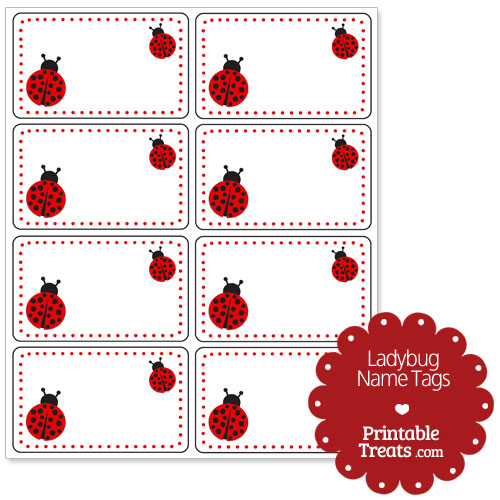 Terms of Use for the Ladybug Name Tags Download