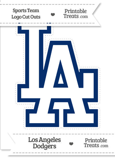 large los angeles dodgers logo cut  printable treatscom