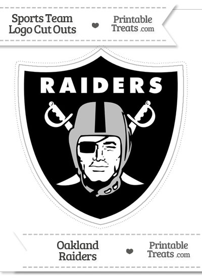 Large Oakland Raiders Logo Cut Out from PrintableTreats.com