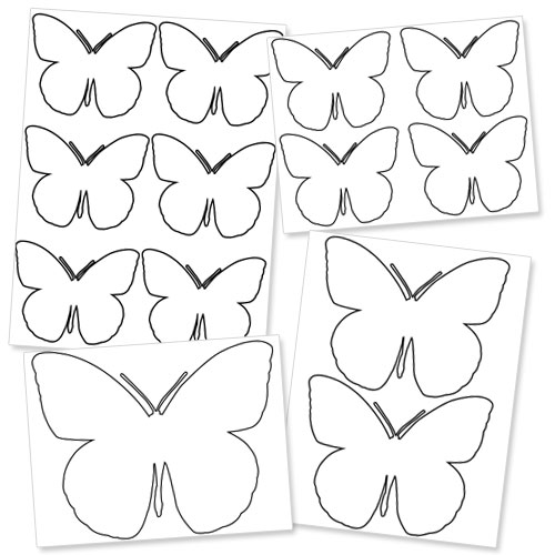 Large Printable Butterfly Template — Printable Treats.Com
