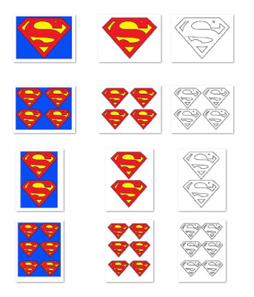 large printable superman logo