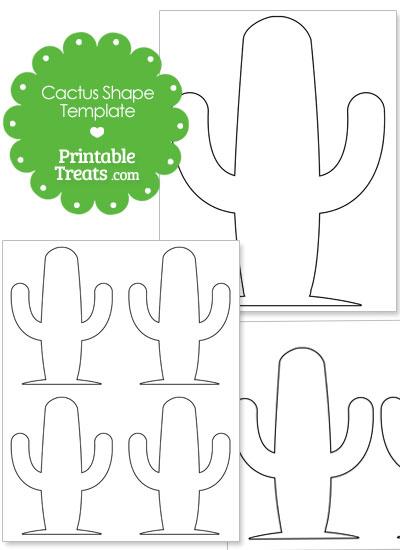 large rounded cactus shape printable treats com