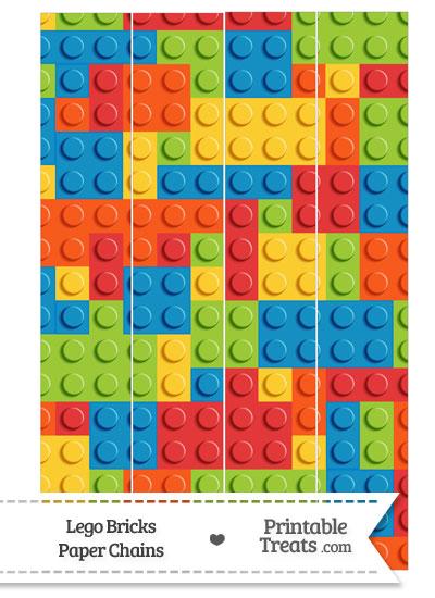 Lego Bricks Paper Chains — Printable Treats.com