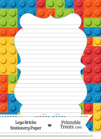 Lego Bricks Stationery Paper — Printable Treats.com