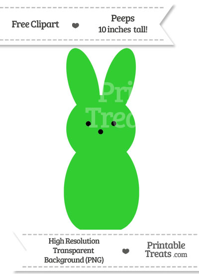 Lime Green Peeps Clipart from PrintableTreats.com
