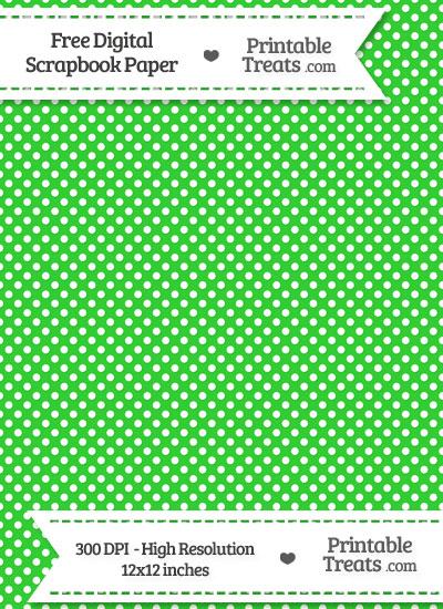 Lime Green Raised Mini Polka Dots Digital Paper Printable Treats
