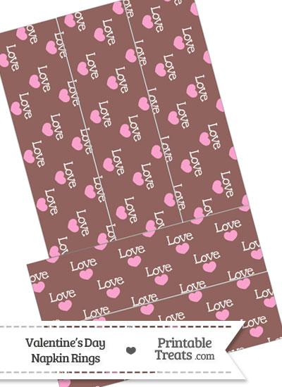 Love Napkin Rings from PrintableTreats.com