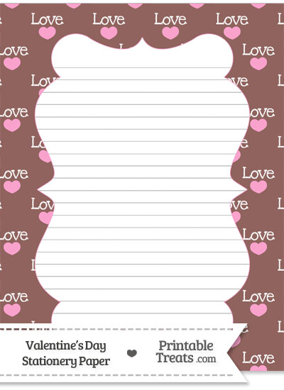 Love Stationery Paper from PrintableTreats.com