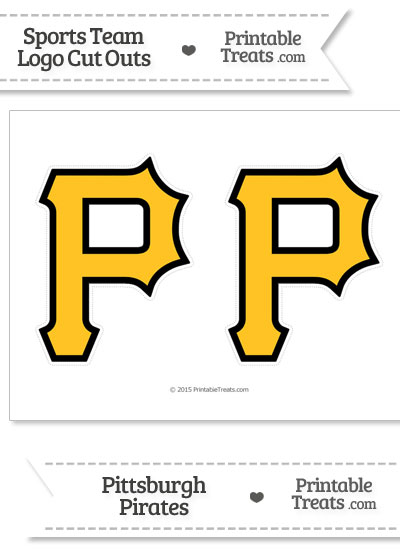 picture relating to Pittsburgh Pirates Printable Schedule known as Medium Pittsburgh Pirates Emblem Slice Outs Printable