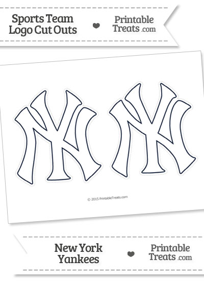 ny yankees coloring pages - medium white new york yankees logo cut outs printable