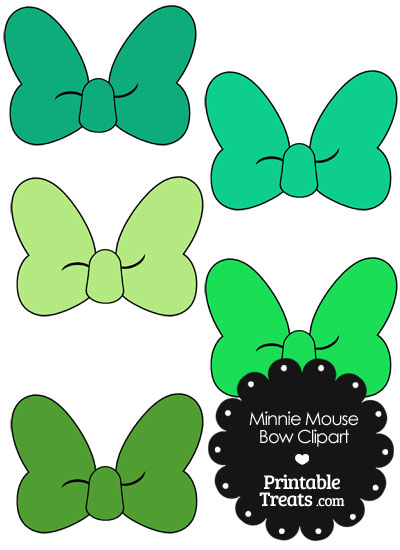 Minnie mouse bow. Clipart in shades of