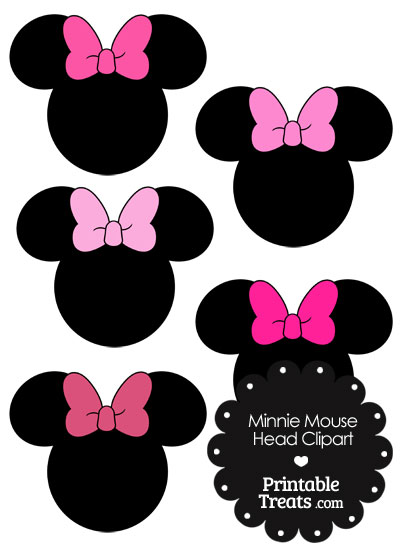 Minnie Mouse Head Clipart With Pink Bows Printable