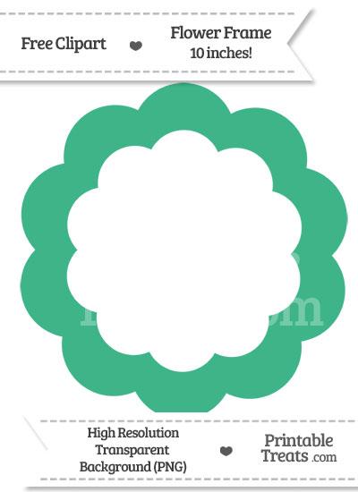 Mint Green Flower Frame Clipart from PrintableTreats.com