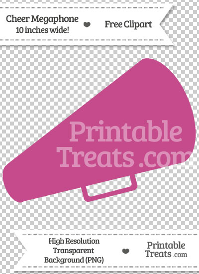Mulberry Purple Cheer Megaphone Clipart from PrintableTreats.com