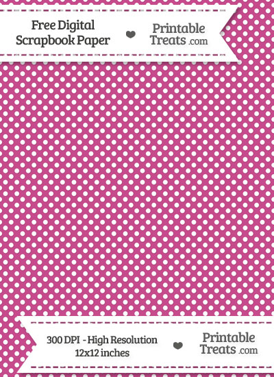 Mulberry Purple Raised Mini Polka Dots Digital Paper from PrintableTreats.com