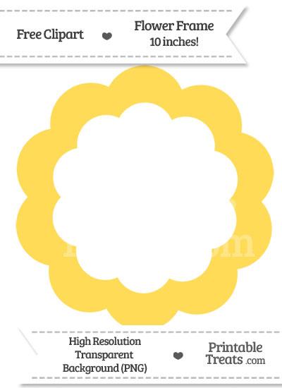 Mustard Yellow Flower Frame Clipart from PrintableTreats.com